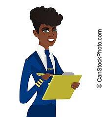 documents., clipboard , νέος , κράτημα , επιστάτρια