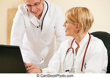 documents, discussion, deux, résultats, médecins, essai, ou