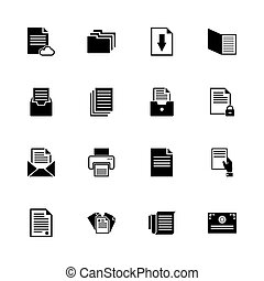 Documents - Flat Vector Icons