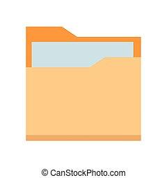 documents folder icon cartoon isolated