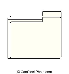 documents folder icon in black and white