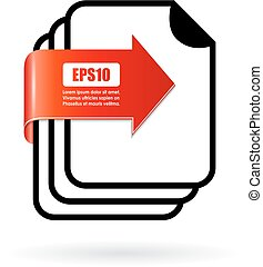 Documents folder vector icon