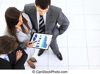 documents, groupe, business, discuter, image, réunion