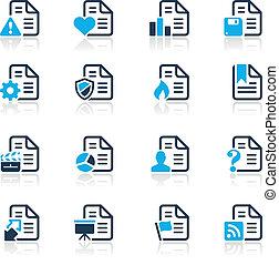 //, documents, icônes, série, -, 2, azur