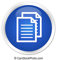 Documents icon blue glossy round button