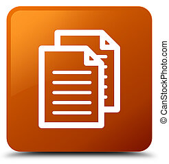 Documents icon brown square button