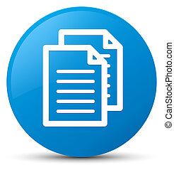 Documents icon cyan blue round button