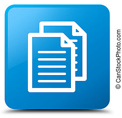 Documents icon cyan blue square button