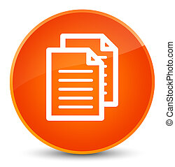 Documents icon elegant orange round button
