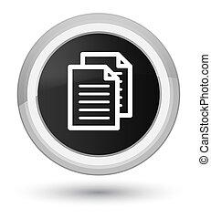 Documents icon prime black round button