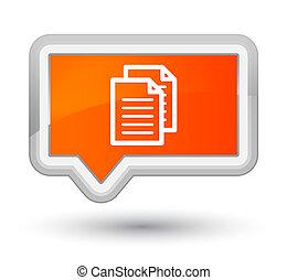 Documents icon prime orange banner button