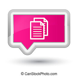 Documents icon prime pink banner button