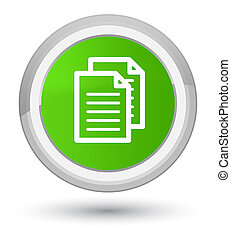 Documents icon prime soft green round button