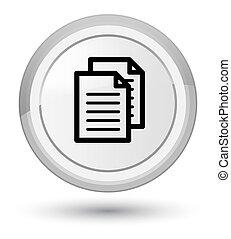 Documents icon prime white round button