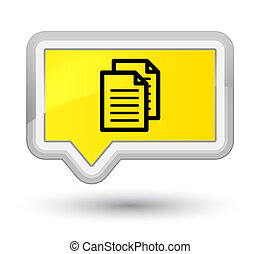 Documents icon prime yellow banner button