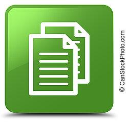 Documents icon soft green square button