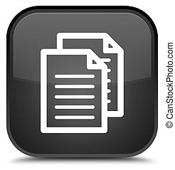 Documents icon special black square button