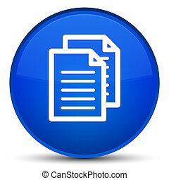 Documents icon special blue round button