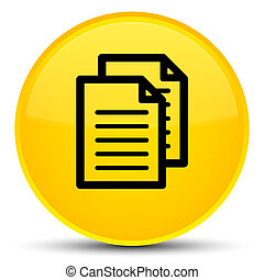 Documents icon special yellow round button