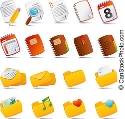 documents icon - Vector illustration - documents, mail and ...