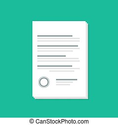 Documents icon with shadow flat style