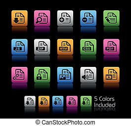 Documents Icons - 1 // Color Box