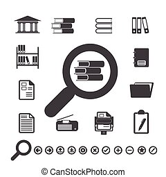 Documents Icons and Library icon.