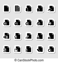 Documents Icons Set as Labels