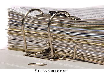 documents in file folder