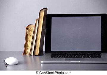 documents, informatique, espace de travail, bureau