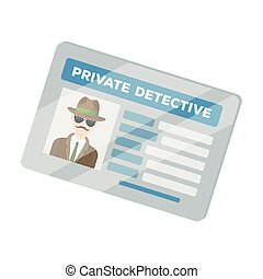 Documents of a private detective. Card that shows the personality of the detective. Detective single icon in cartoon style vector symbol stock illustration.