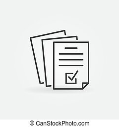 Documents or Business report vector outline icon