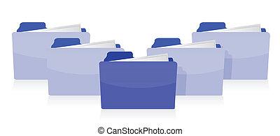 Documents organized concept illustration design over white