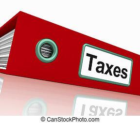 documents, taxation, contient, impôts, rapports, fichier