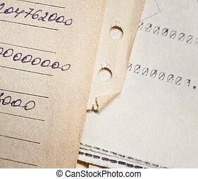 documents, vieux, papier