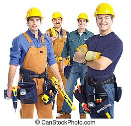 dodavatel, dělníci