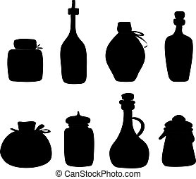 Doddle Black silhouette jars and bottles