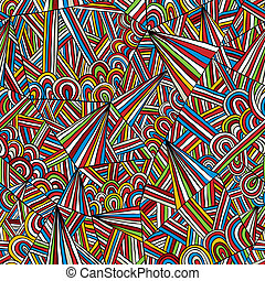 doddle, pattern., seamless, colorito