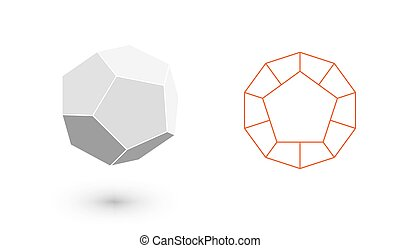 dodecahedron is a geometric figure. Hipster Fashion...