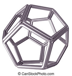 Dodecahedron - Original isolated illustration of a tubular ...