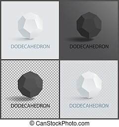 Dodecahedron Three-Dimensional Shape Plane Faces -...