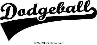 dodgeball, palavra, retro