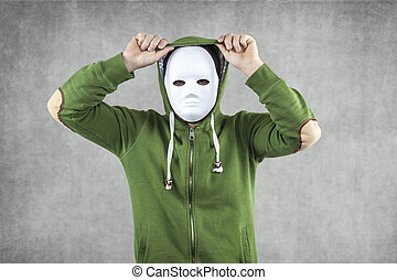 Dodger in the mask implies the hood