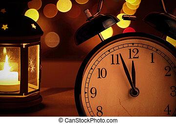 dodici, esposizione, concetto, punto, orologio, vendemmia,...