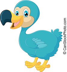 dodo, dessin animé, oiseau