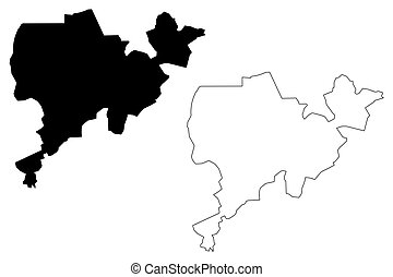 Dodoma City (United Republic of Tanzania) map vector illustration, scribble sketch City of Dodoma map