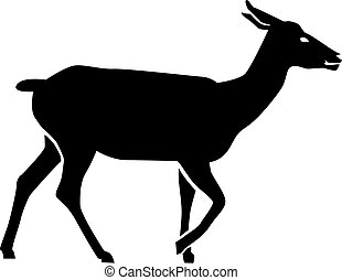 Doe deer Silhouette