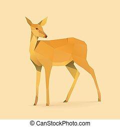 doe - polygonal illustration of doe