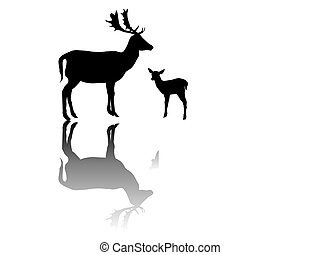 doe family-silhouette with shadows
