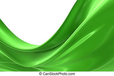 doek, abstract, groene
